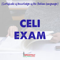 CELI 1 (A2) Sample Test with Teacher's Feedback