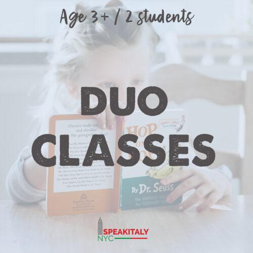 Private Classes (DUO) Children 3+