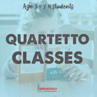 Private Classes (QUARTETTO) Children 3+