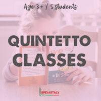 Private Classes (QUINTETTO) Children 3+