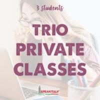 Trio Private Classes (3 students)