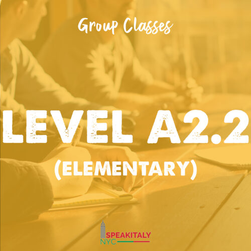 Group Classes - Level A2.1 & A2.2 (Elementary)