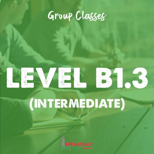 Group Classes - Level B1.3 & B1.4 (Intermediate)