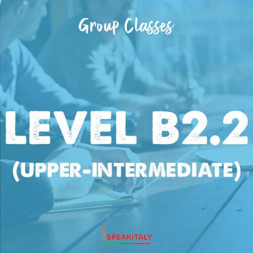 Group Classes - Level B2.1 & B2.2 (Upper Intermediate)